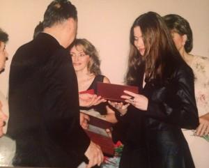 Вручение диплома 2000 год